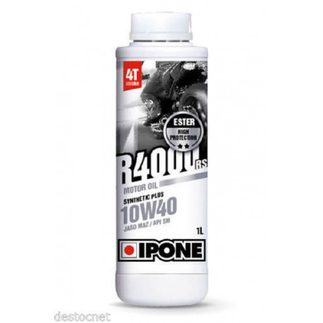 HUILE MOTO CROSS IPONE R4000RS SYNTHETIC PLUS 10W40 1L