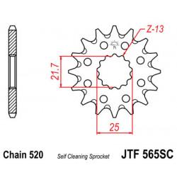 Pigon JT acier anti-boue type 565 pas 520 14 dents YAMAHA WRF-450 2001-06