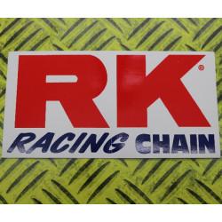 AUTOCOLLANT STICKERS RK RACING 13X7cm