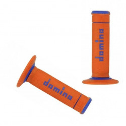 POIGNEES DOMINO OFF-ROAD X-TREME ORANGE BLEU 22 MM