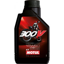 HUILE MOTUL 300V FACTORY LINE OFF ROAD 15W60 4T 100% Synthétique 1 LITRE