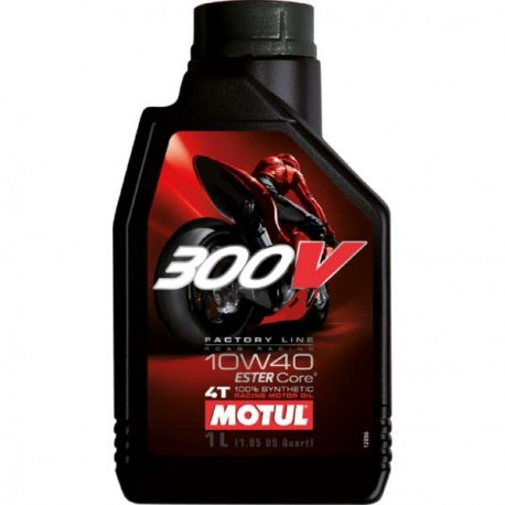 HUILE MOTEUR MOTUL 300V FACTORY LINE ROAD RACING 10W40 4T 100% SYNTHETIC 1 LITRE