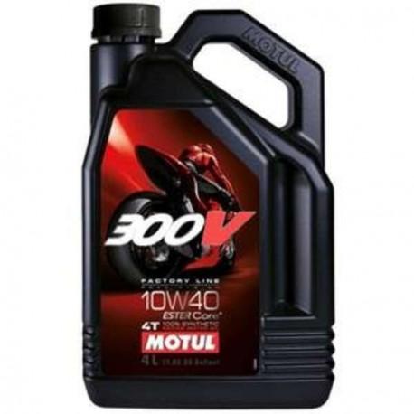HUILE MOTEUR MOTUL 300V FACTORY LINE ROAD RACING 10W40 4T 100% SYNTHETIC 4 LITRES