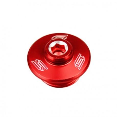 Bouchon supérieur carter d'huile SCAR rouge 250/450 RMZ-RM85/125/250